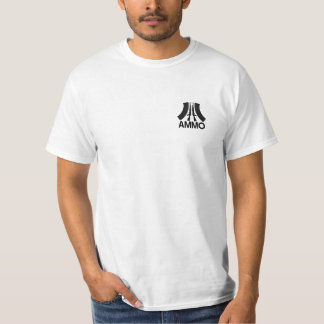 Ammo Logo - 2nd Amendment Support - Two Side Value Tee Shirt