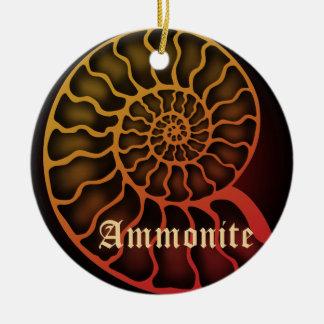 Ammonite Ceramic Ornament