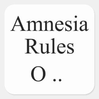 Amnesia Square Sticker