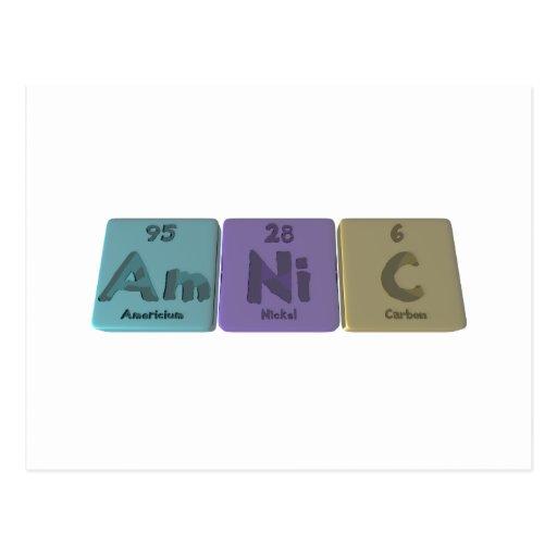 Amnic-Am-Ni-C-Americium-Nickel-Carbon Post Card