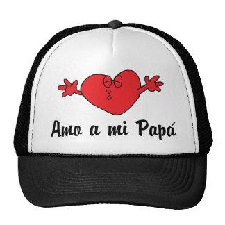 Amo a mi Papa Mesh Hat