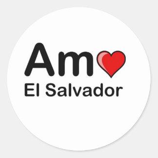 Amo El Salvador Stickers