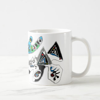 Amoeba  like black  &  blue image  mug