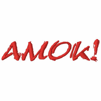 AMOK! EMBROIDERED POLO SHIRT