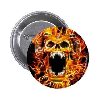 Amon Fiery Skull Pin