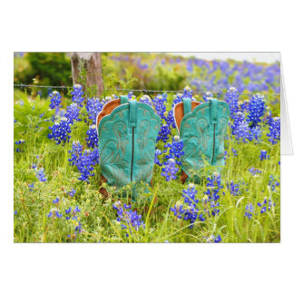 Among Bluebonnets Note Card