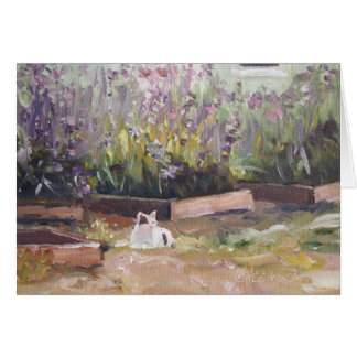 'Among Purple Flowers' Notecard