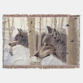 Among the Aspens - Throw Blanket