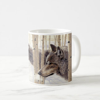 """Among the Aspens"" Wolves - Coffee Mug"