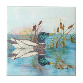 Among the Cattails Ceramic Tile