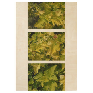 Among the foliage. Shades of yellow Wood Poster