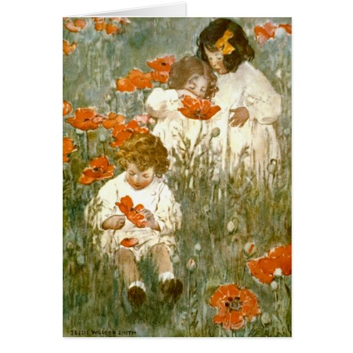 Among the Poppies 1904 Cards