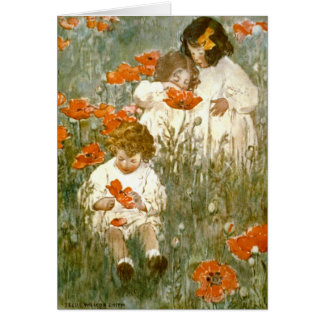 Among the Poppies 1904 Greeting Card