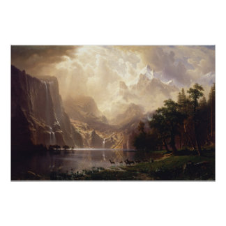 Among the Sierra Nevada, California by Bierstadt Poster