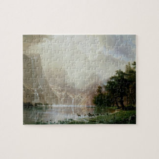 Among the Sierra Nevada Mountains by Bierstadt Jigsaw Puzzle