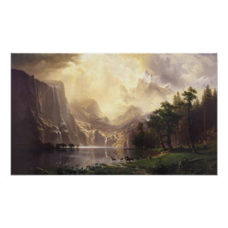 Among the Sierra Nevada Mountains Poster