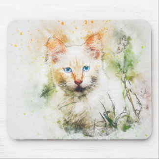 Among the Wildflowers | Abstract | Watercolor Mouse Pad