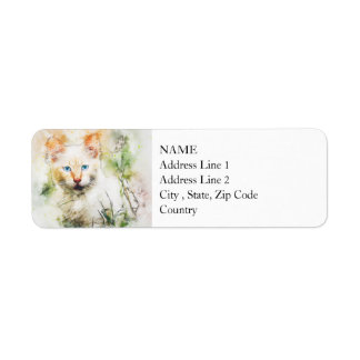 Among the Wildflowers | Abstract | Watercolor Return Address Label