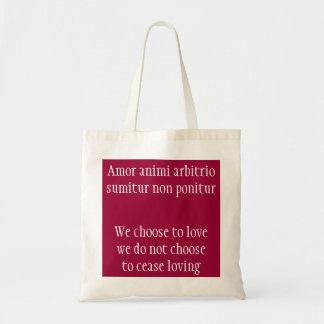 Amor animi arbitrio sumitur canvas bags
