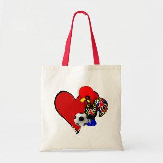 Amor, Barcelos, Futebol - Deus é Maravilhoso Budget Tote Bag