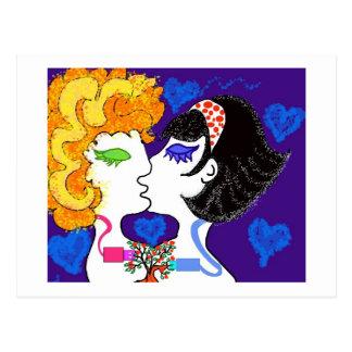 Amor + chips + fantasias postcard