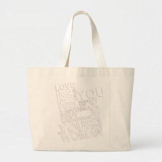 Amor é Love is Bolsa Para Compras