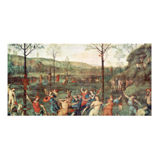 Amor Fight Against Chastity By Perugino Pietro Custom Photo Card