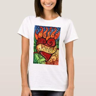 Amor Flaming Heart Tshirt Design