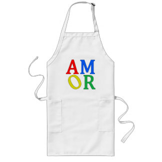 AMOR in Bright Colors Long Apron