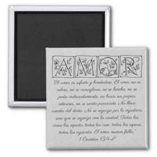 Amor...Love is...Scripture Magnet~Spanish Magnet