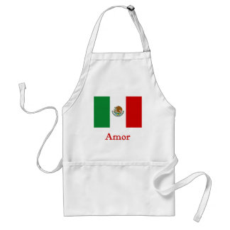 Amor Mexican Flag Standard Apron