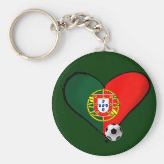 Amor, Portugal e Futebol - O que mais vôce quer ? Basic Round Button Key Ring