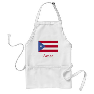 Amor Puerto Rican Flag Aprons