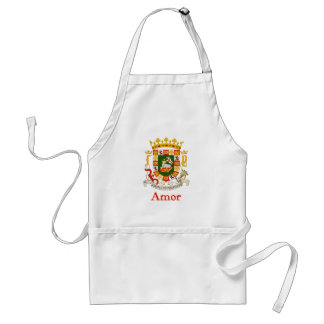 Amor Puerto Rico Shield Aprons