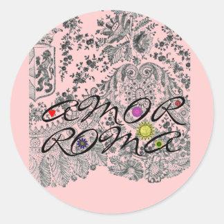 Amor Roma Classic Round Sticker