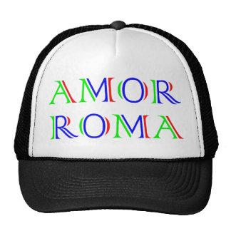Amor Roma love Rome love rome Cap