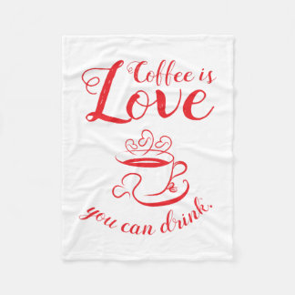 Amore Coffee Fleece Blanket