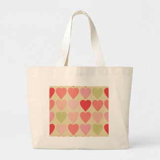 amore,retro,multi red,vintage,grunge heart,hearts, tote bags