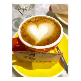 Amoreccino I heart Italian Coffee Postcard