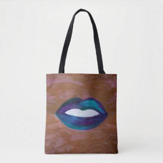 Amorous Baby XOXO Lips Lipstick Kiss Glam Diva Fun Tote Bag