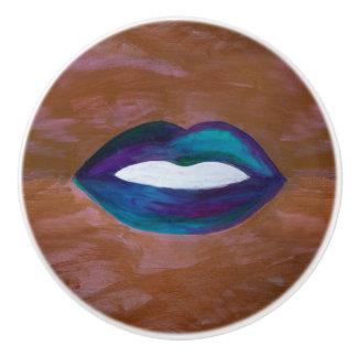 Amorous Decor | Lips Kiss XOXO Lipstick Diva Glam Ceramic Knob