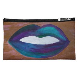 Amorous Lipstick Lips Kiss Stylist Hip Salon Chic Makeup Bag