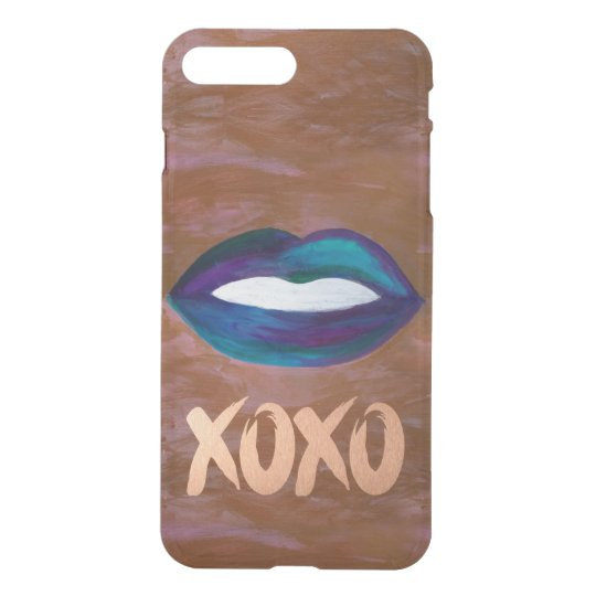 Amorous Tech | Lips Kiss XOXO Lipstick Glam Teen iPhone 8 Plus/7 Plus Case