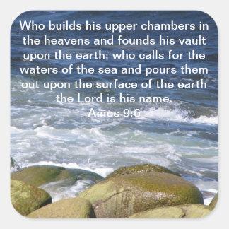 Amos 9:6 square sticker