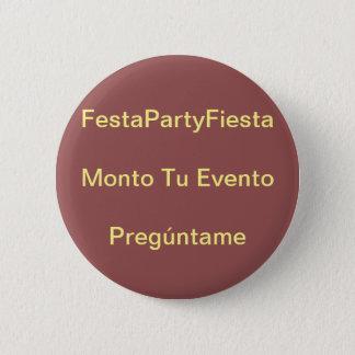 Amount your event 6 cm round badge