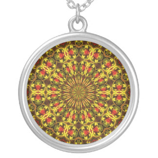Amped Up Mandala 3 Silver Plated Necklace