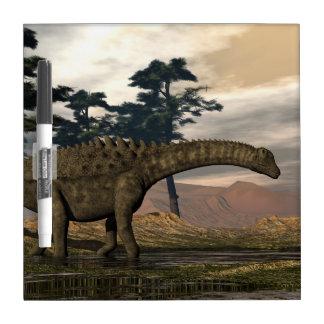 Ampelosaurus dinosaur dry erase board