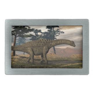Ampelosaurus dinosaur rectangular belt buckle