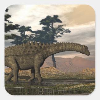 Ampelosaurus dinosaur square sticker