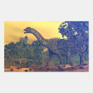 Ampelosaurus dinosaurs rectangular sticker